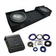 2004-2015 Nissan Titan King or Crew Truck Alpine Type S S-W12D2 Dual 12 Sub Box Enclosure with S-...