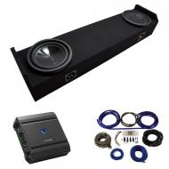 """2006-2014 Honda Ridgeline Truck Alpine SWT-10S4 Dual 10"""" Sub Box Enclosure Package with S-A6..."""