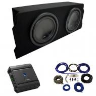 """2004-2008 Mazda RX-8 Coupe Alpine SWT-10S4 Dual 10"""" Sub Box Enclosure Package with S-A60M Am..."""