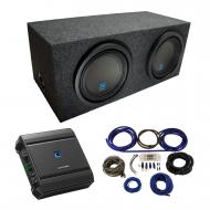 "Universal Car Stereo Rearfire Sealed Dual 10"" Alpine Type S S-W10D2 Sub Box Enclosure with S..."
