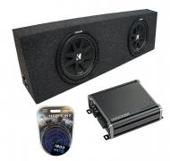 "Universal Regular Standard Cab Truck Kicker Comp C10 Dual 10"" Sub Box Enclosure & CXA800..."