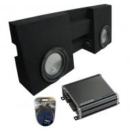 """Compatible with 2005-2015 Toyota Tacoma Double Cab Truck Harmony A102 Dual 10"""" Sub Box &..."""