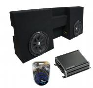 """Kicker Bundle Compatible With 2005-15 Toyota Tacoma Double Cab Truck C10 Comp Dual 10"""" Sub B..."""