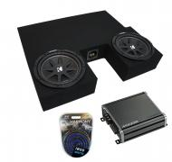 """Compatible with 2007-2013 Toyota Tundra Double Cab Truck Kicker Comp C10 Dual 10"""" Sub Box En..."""