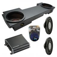 Compatible with 2002-2013 Cadillac Escalade EXT Underseat Harmony F124 Dual 12 Rhino Coated Sub B...