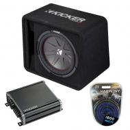 "Kicker 43VCWR122 12"" 500W CompR Loaded Enclosure w/ CXA800.1 Sub Amplifier"