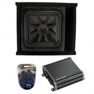 Kicker L7S12 Solo-Baric Subwoofer Ported Box with CXA800.1 Amp & Install Kit