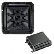 "Kicker 44L7S124 Car Audio Solo-Baric 12"" Subwoofer and CXA800.1 Sub Amp Bundle"