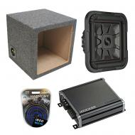"Kicker L7 10"" 1000W Subwoofer 46L7T104 w/ Sealed Sub Box & CXA800.1 Stereo Amp"