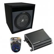 "Universal Car Stereo Paintable Ported 12"" Kicker CompR CWR12 Sub Box Enclosure & CXA800...."