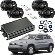 Compatible with Jeep Cherokee 2014-2018 Factory Speaker Replacement Package Harmony R69 & CXA...