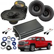Compatible with GMC Sierra 1500 Crew Cab 2014-2018 Factory Speaker Replacement R69 R65 & CXA3...
