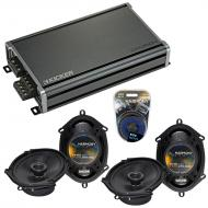 Compatible with BMW 5 Series 1990-1996 Factory Speaker Replacement Harmony (2)R68 & CXA360.4 Amp