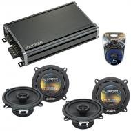 Compatible with Cadillac DTS 2006-2011 Factory Speaker Replacement Harmony (2) R5 & CXA360.4 Amp