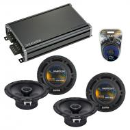 Compatible with Cadillac SRX 2007-2009 Factory Speaker Replacement Harmony (2)R65 & CXA360.4 Amp