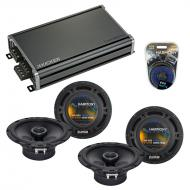 Compatible with Chevy Prizm 1998-2003 Factory Speaker Replacement Harmony (2) R65 & CXA360.4 Amp
