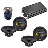 Compatible with Dodge Nitro 2007-2011 Factory Speaker Replacement Harmony (2) R65 & CXA360.4 Amp