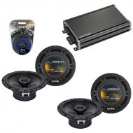 Compatible with Dodge Viper 1993-2002 Factory Speaker Replacement Harmony (2) R65 & CXA360.4 Amp