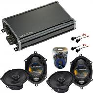 Compatible with Ford Ranger 1998-2011 Factory Speaker Replacement Harmony (2) R68 & CXA360.4 Amp