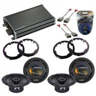 Compatible with Honda Civic 2001-2005 Factory Speaker Replacement Harmony (2) R65 & CXA360.4 Amp
