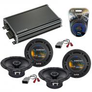 Compatible with Honda Pilot 2003-2008 Factory Speaker Replacement Harmony (2) R65 & CXA360.4 Amp