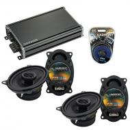 Compatible with Porsche 924 1987-1989 Factory Speaker Replacement Harmony (2) R46 & CXA360.4 Amp