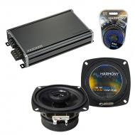 Compatible with Toyota MR2 1985-1986 Factory Speaker Replacement Harmony R4 & CXA360.4 Amplifier