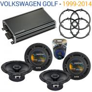 Compatible with Volkswagen Golf 1999-2014 Factory Speaker Replacement Harmony (2) R65 & CXA36...