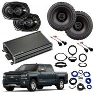Compatible with Chevrolet Silverado 1500 Crew 14-18 Factory Speaker Replacement R69 R65 CXA360.4