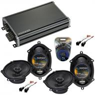 Compatible with Ford F-150 2004-2008 Factory Speaker Replacement Harmony (2) R68 & CXA360.4 Amp