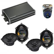 Compatible with Ford Freestyle 2005-2007 Factory Speaker Replacement Harmony (2) R68 & CXA360...