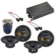 Compatible with GMC Canyon 2004-2012 Factory Speaker Replacement Harmony (2) R65 & CXA360.4 Amp
