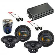 Compatible with Saturn VUE 2004-2005 Factory Speaker Replacement Harmony (2) R65 & CXA360.4 Amp