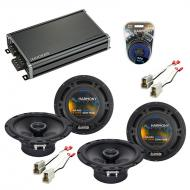 Compatible with Chevy Aveo (Hatchback) 07-08 OEM Speaker Replacement Harmony (2) R65 & CXA360...