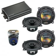 Compatible with Isuzu VehiCROSS 1999-2001 OEM Speaker Replacement Harmony (2) R5 & CXA360.4 Amp