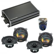 Compatible with Jaguar XJ 1998-2005 OEM Speaker Replacement Harmony (2) R5 & CXA360.4 Amplifier