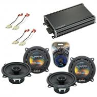 Compatible with Jeep Grand Wagoneer 86-92 OEM Speaker Replacement Harmony (2) R5 & CXA360.4 Amp