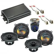 Compatible with Mazda RX7 1986-1989 OEM Speaker Replacement Harmony (2) R5 & CXA360.4 Amplifier
