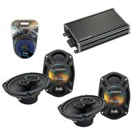 Compatible with Mitsubishi Eclipse 06-12 OEM Speaker Replacement Harmony (2) R69 & CXA360.4 Amp