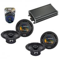 Compatible with Mitsubishi Montero 97-05 OEM Speaker Replacement Harmony (2) R65 & CXA360.4 Amp