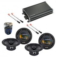 Compatible with Chevy Corvette 1997-2004 Factory Speaker Replacement Harmony (2) R65 & CXA360...