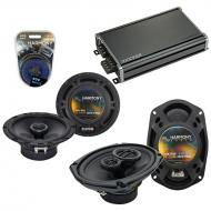 Compatible with Hyundai Entourage 2007-2008 Speaker Replacement Harmony Speakers & CXA360.4 Amp