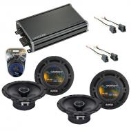 Compatible with Hyundai Sonata 1997-1998 Speaker Replacement Harmony (2) R65 & CXA360.4 Amp