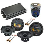Compatible with Nissan Frontier 1998-2004 OEM Speaker Replacement Harmony R65 R5 & CXA360.4 Amp