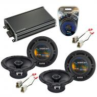 Compatible with Subaru Impreza WRX 2002-2005 Speaker Replacement Harmony (2) R65 & CXA360.4 Amp