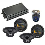 Compatible with Subaru Impreza WRX 2008-2014 Speaker Replacement Harmony (2) R65 & CXA360.4 Amp