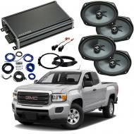 Compatible with GMC Canyon Ext Cab 2015-2018 Premium Speaker Replacement Package C69 & CXA360.4