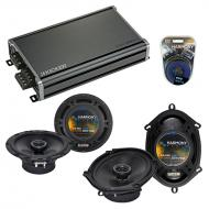 Compatible with Audi A6 2000-2008 Factory Speaker Replacement Harmony R5 R65 & CXA360.4 Amp