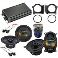 Compatible with GMC Sonoma 1998-2004 OEM Speaker Replacement Harmony R65 R46 & CXA360.4 Amp