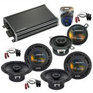 Compatible with Isuzu Ascender 03-08 OEM Speaker Replacement Harmony (2) R65 R35 & CXA360.4 Amp